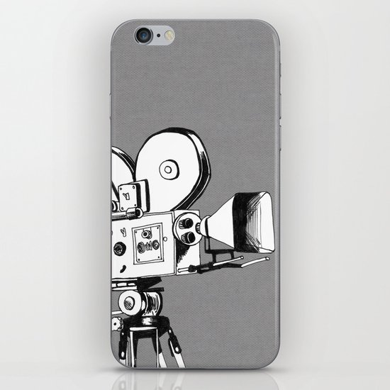 vintage filming iPhone & iPod Skin