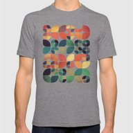 Vintage Fall Pattern Mens Fitted Tee Tri-Grey SMALL