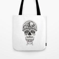 AZTEC SKULL B/W  Tote Bag