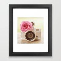 Rose Fisheye  Framed Art Print