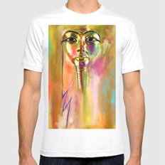 Tut SMALL White Mens Fitted Tee