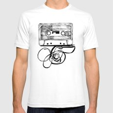 K7 TAPE Mens Fitted Tee SMALL White