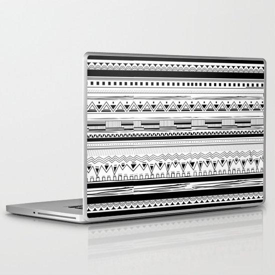 Tribal Pattern Black Laptop & iPad Skin