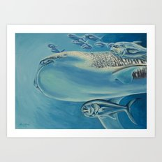 Whale Shark and Friends Art Print