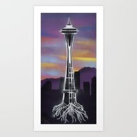 Rooted in Seattle 1 Art Print