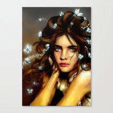 Natalia´s hair Butterflys  Canvas Print