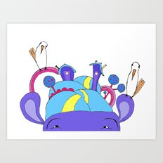 House on Hippo Art Print