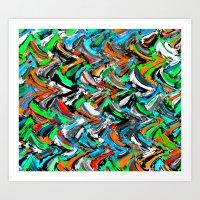Stucco Sea 1 Art Print