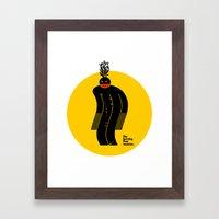 The Burning Flow Monster Framed Art Print