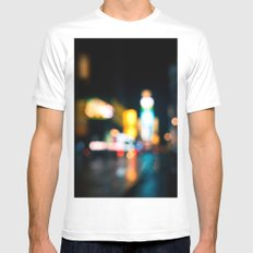 Times Square Empty Mens Fitted Tee White SMALL
