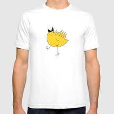 Birdy SMALL White Mens Fitted Tee