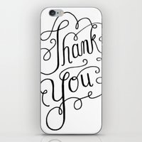 Thank you Hand Lettered Calligraphy iPhone & iPod Skin