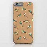 doodle birds - brown iPhone 6 Slim Case