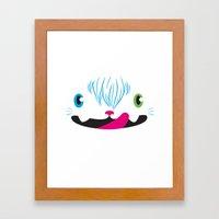 Odd-eyed Kitty Framed Art Print