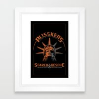 Snake Plissken's Search & Rescue Pty. Ltd. Framed Art Print