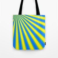 Blue And Yellow Fractal Tote Bag