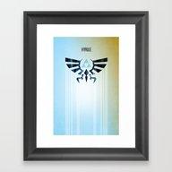 Framed Art Print featuring The Legend Of Zelda - Hy… by Barrett Biggers