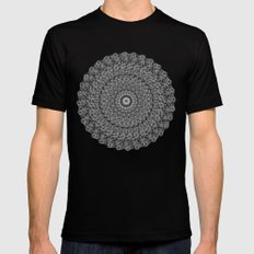 Mandala Mens Fitted Tee Black SMALL