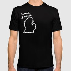 Ride Statewide - Michigan Black Mens Fitted Tee SMALL