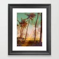 Man Bear Tree Framed Art Print