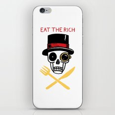 EAT THE RICH iPhone & iPod Skin