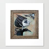 Raven Witch Canvas Print