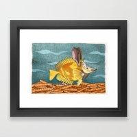 Foxface rabbit fish Framed Art Print