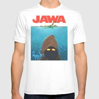 JAWA Mens Fitted Tee White SMALL