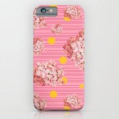 hydrangea spots and stripes iPhone 6s Slim Case