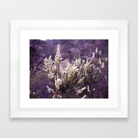 Pinnacles in Purple Framed Art Print