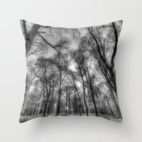 The Infrared Forest Throw Pillow