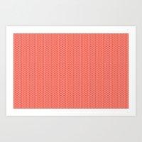 U16 - knit pink Art Print