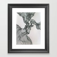 Drawing Weird Stuff Framed Art Print