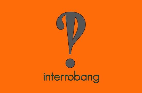 Interrobang, Serif Art Print