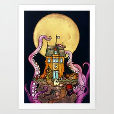 The Midnight Chateau Art Print