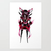 Red Black 01 Art Print