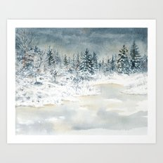 Frozen Lake Art Print