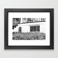 Mary, the Mother (black&white) Framed Art Print