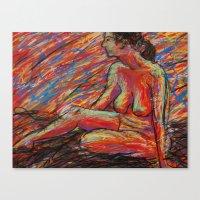 Hypatia On Fire Canvas Print