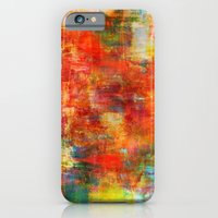 AUTUMN HARVEST - Fall Colorful Abstract Textural Painting Warm Red Orange Yellow Green Thanksgiving iPhone 6 Slim Case