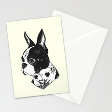 Dog - Tattooed BostonTerrier Stationery Cards