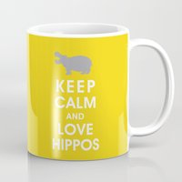 Keep Calm and Love Hippos Mug