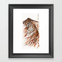 tiger mountain Framed Art Print