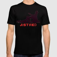 Justified ||| SMALL Black Mens Fitted Tee