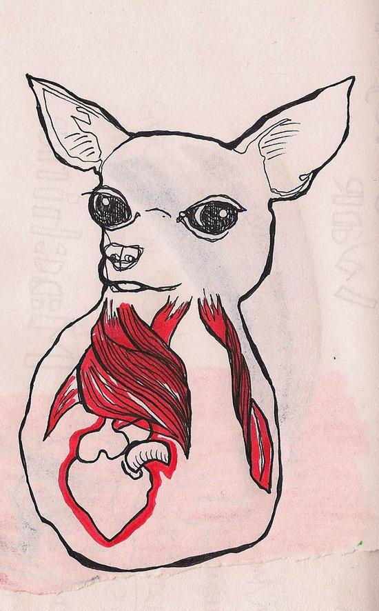 Inside Out Chihuahua Art Print