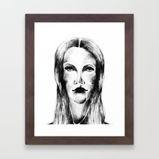 Goth Girl Framed Art Print
