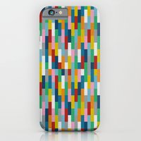 iPhone & iPod Case featuring Bricks Rotate #2 by Project M