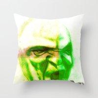 Acid Face Throw Pillow