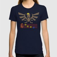 Bioshock Infinite: Song of the Songbird Womens Fitted Tee Navy SMALL