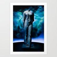 Cleopatra Statue Art Print